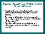 physical activity and health related physical fitness