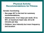 physical activity recommendations for fitness