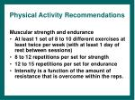 physical activity recommendations19