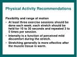 physical activity recommendations21