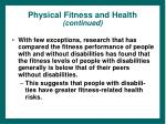 physical fitness and health continued12