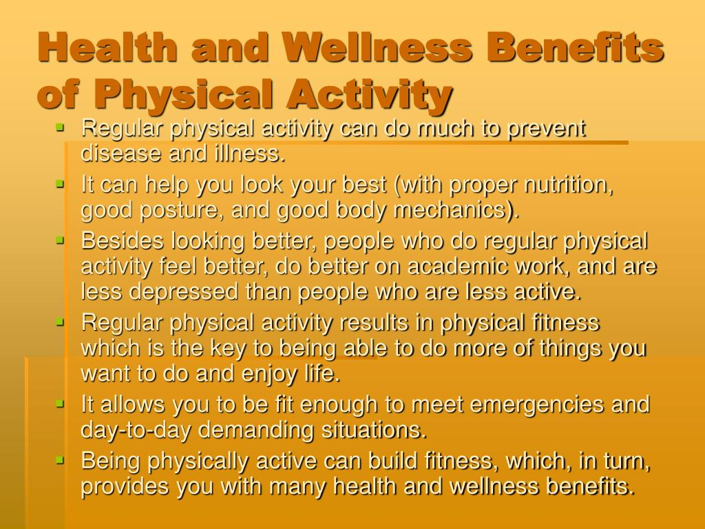 Health and Wellness Benefits of Physical Activity
