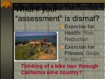 what if your assessment is dismal