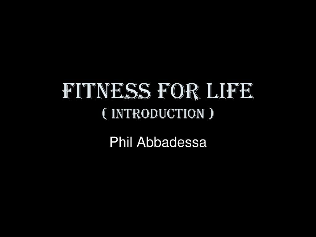 fitness for life introduction l.