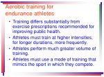 aerobic training for endurance athletes