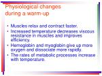 physiological changes during a warm up