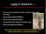 aging is related to