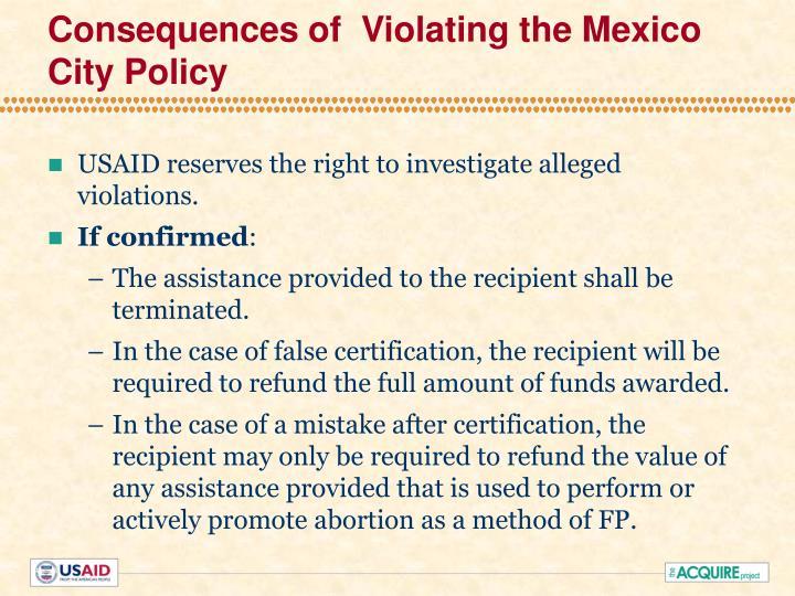 Helms Amendment Mexico City Policy