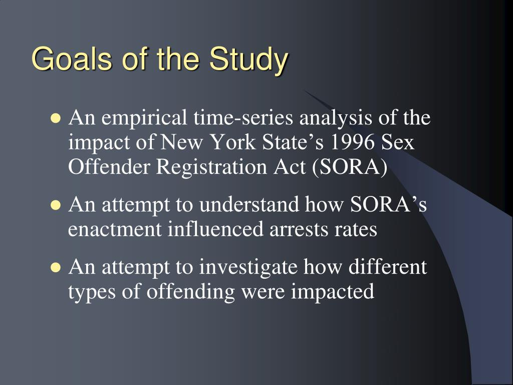 Goals of the Study