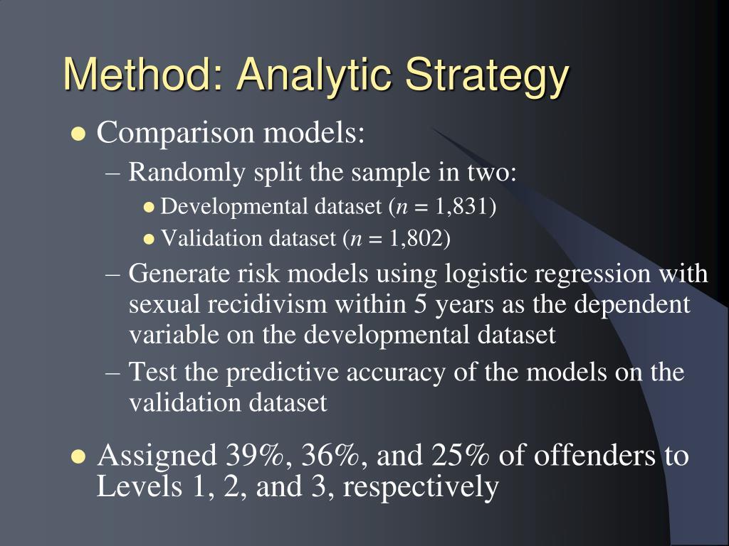Method: Analytic Strategy