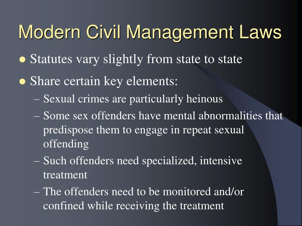 Modern Civil Management Laws