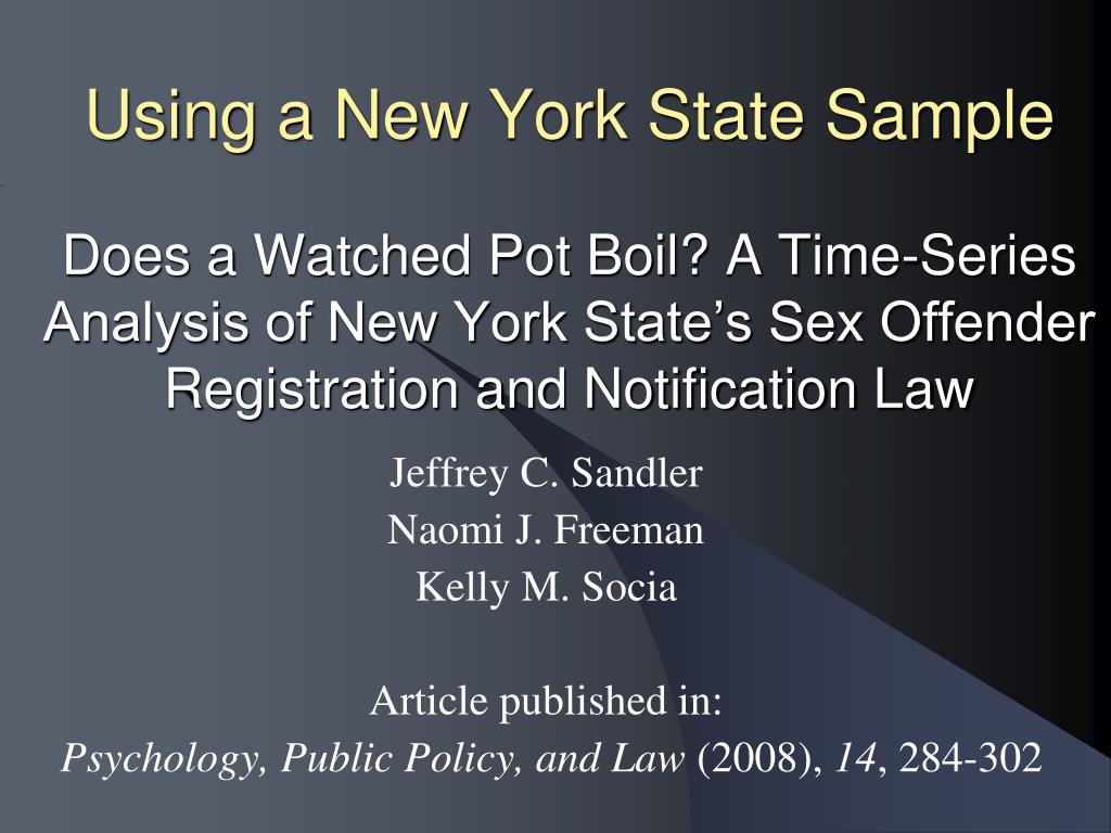 Using a New York State Sample