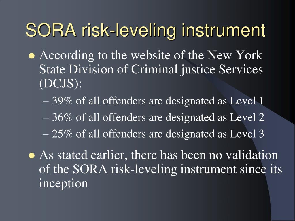 SORA risk-leveling instrument