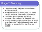 stage 2 storming