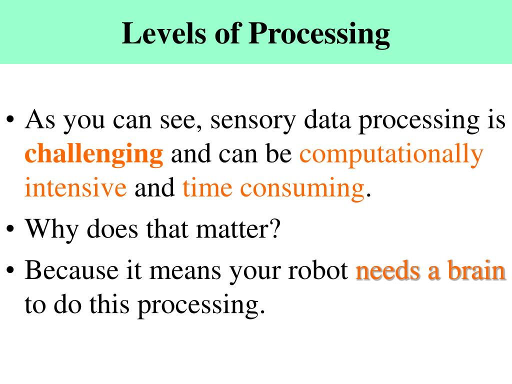 Levels of Processing