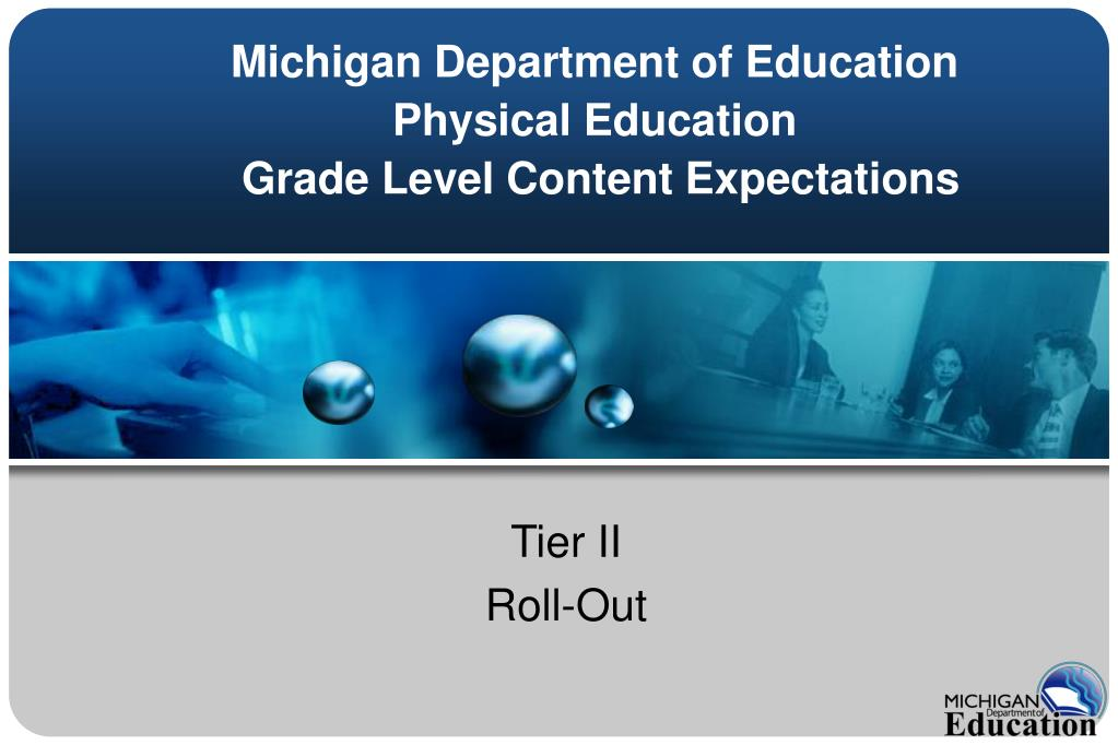michigan department of education physical education grade level content expectations l.