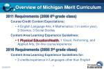 overview of michigan merit curriculum
