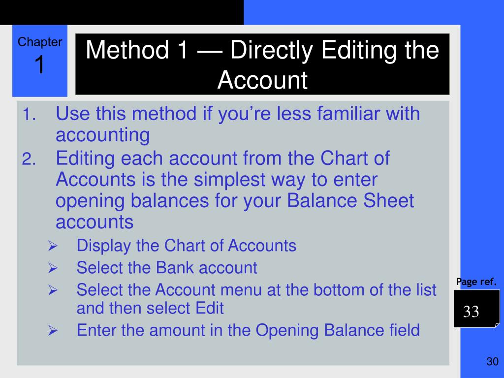 Method 1 — Directly Editing the Account