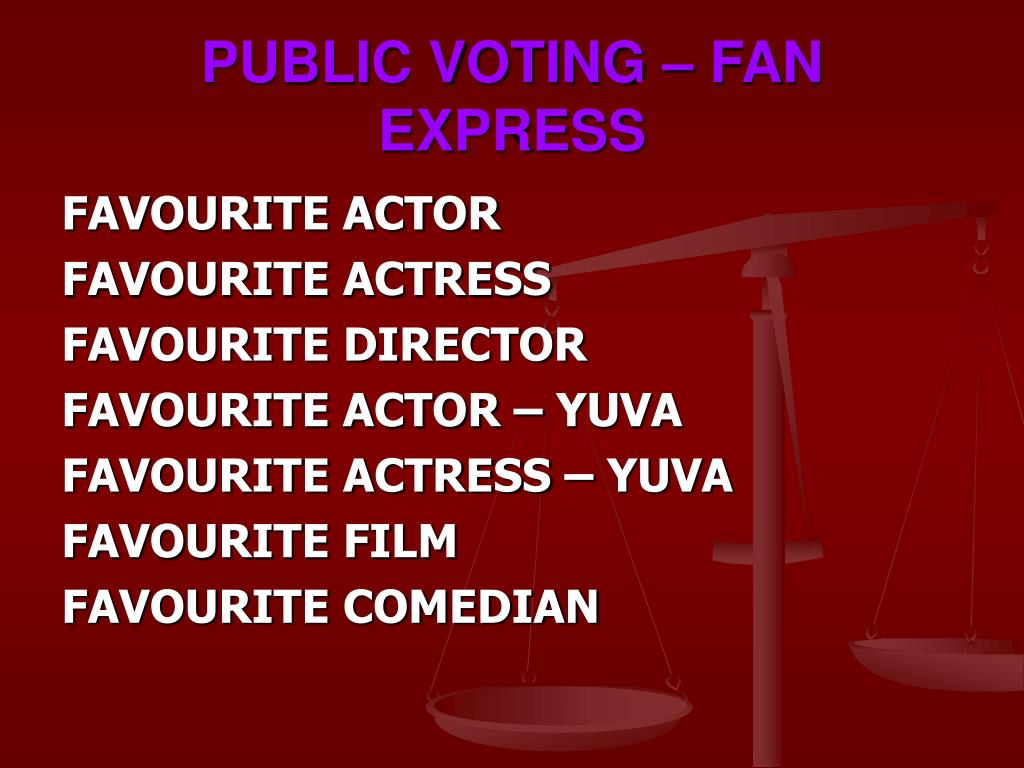 PUBLIC VOTING – FAN EXPRESS