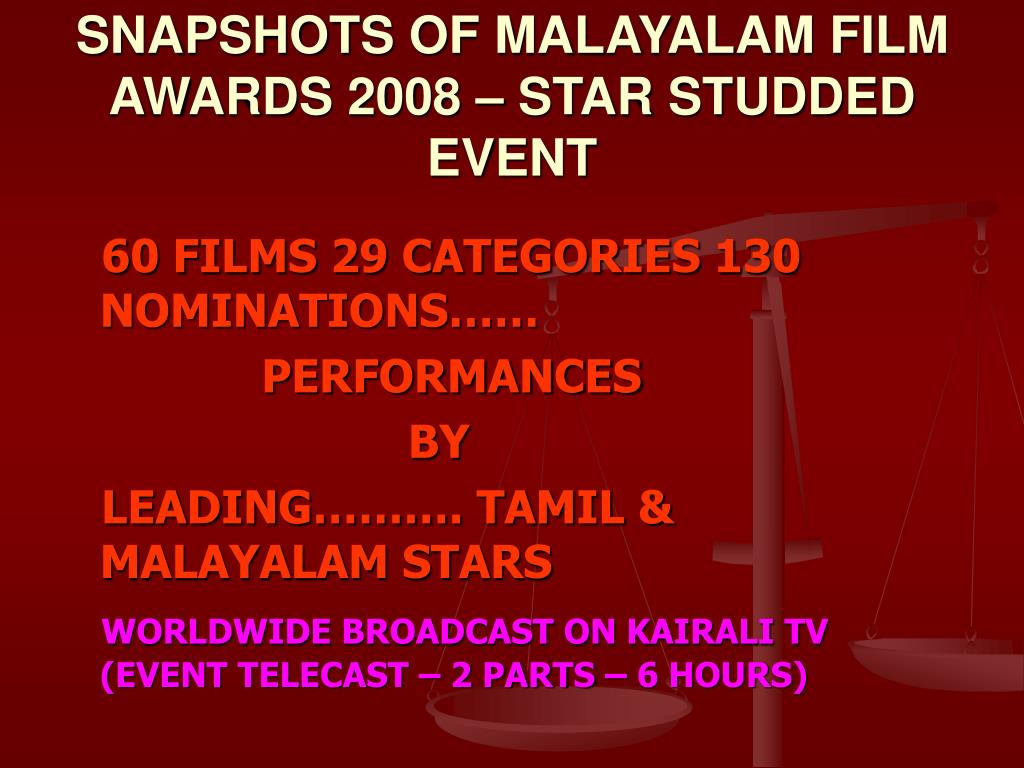 SNAPSHOTS OF MALAYALAM FILM AWARDS 2008 – STAR STUDDED EVENT
