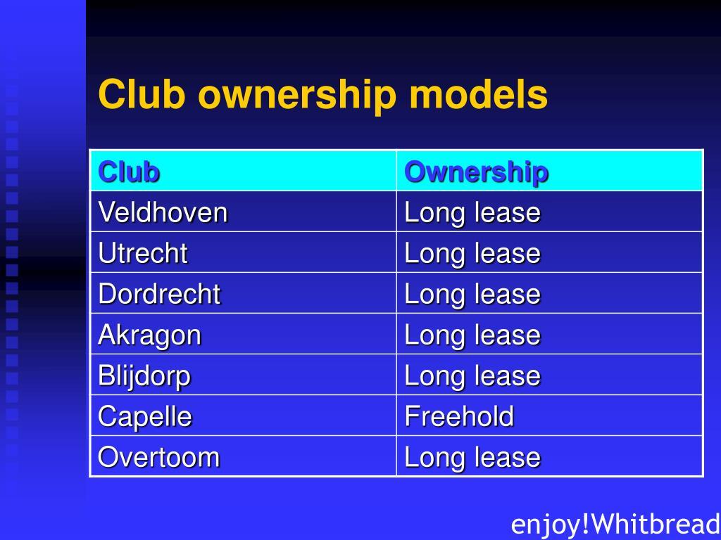 Club ownership models