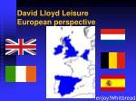 david lloyd leisure european perspective