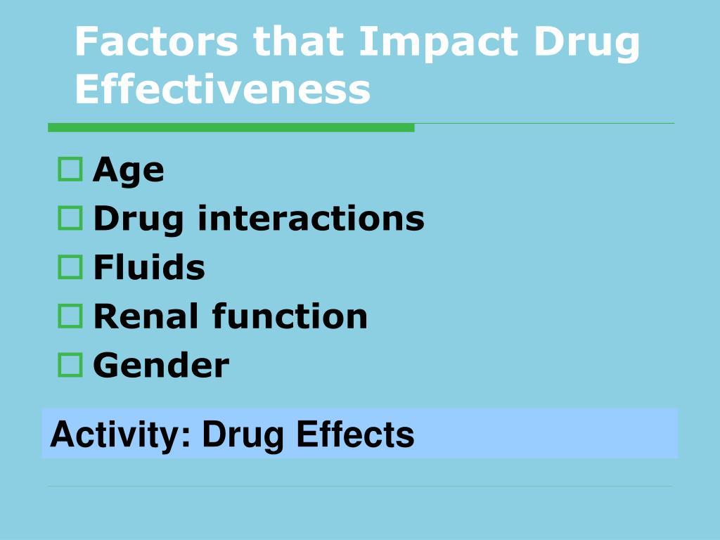 Factors that Impact Drug Effectiveness