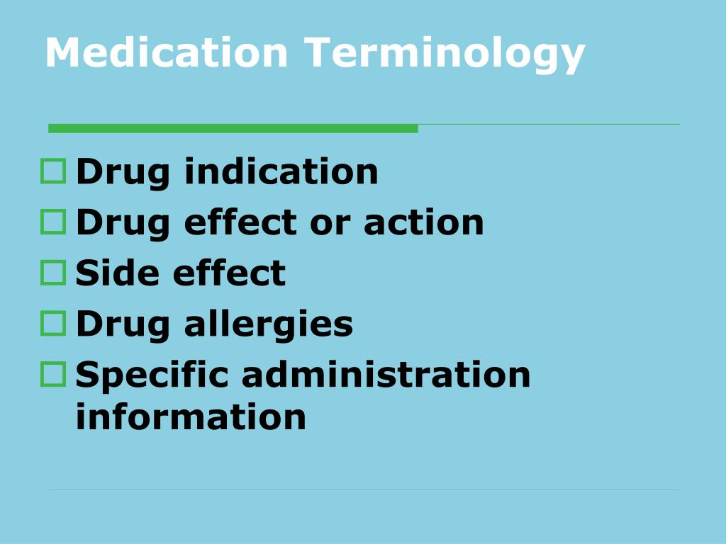 Medication Terminology