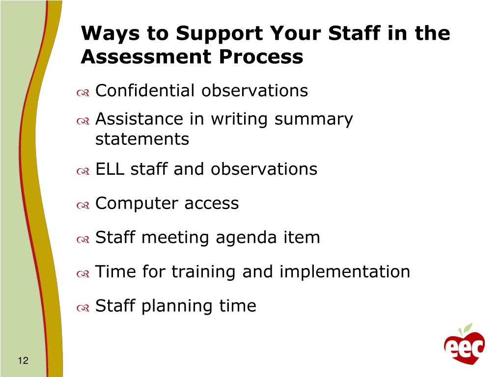 Ways to Support Your Staff in the Assessment Process