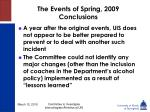 the events of spring 2009 conclusions