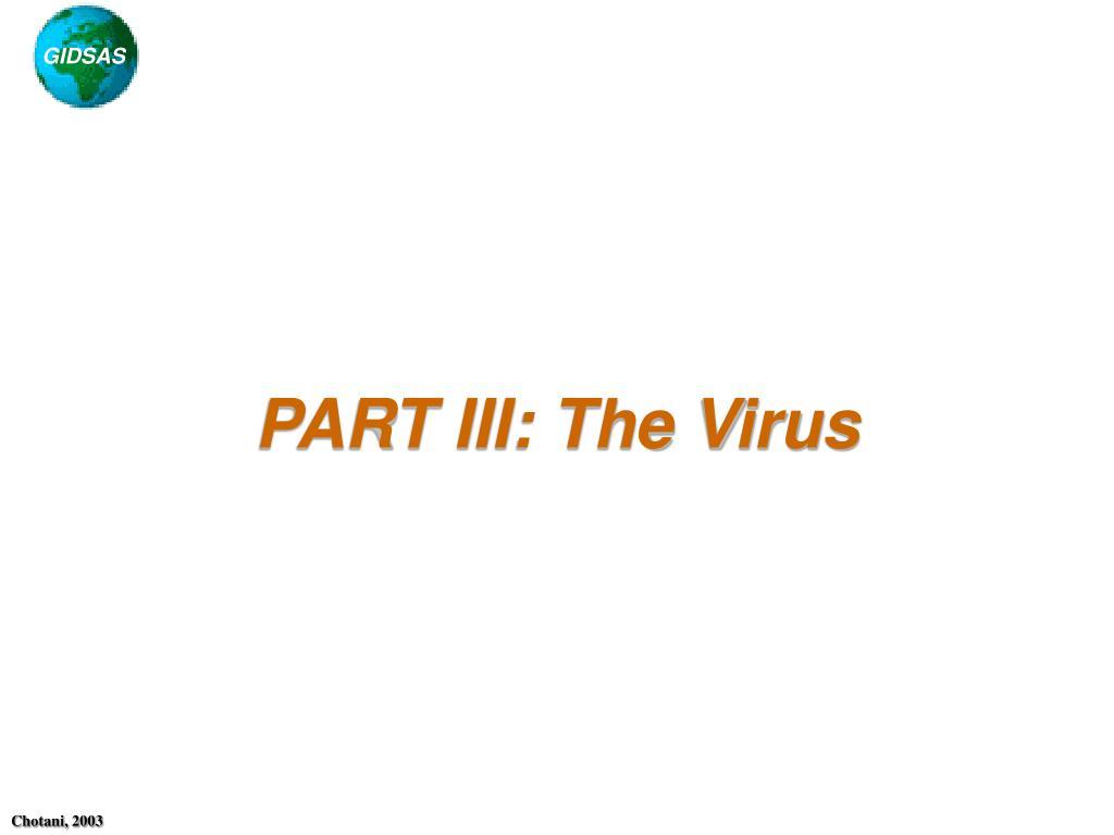 part iii the virus l.