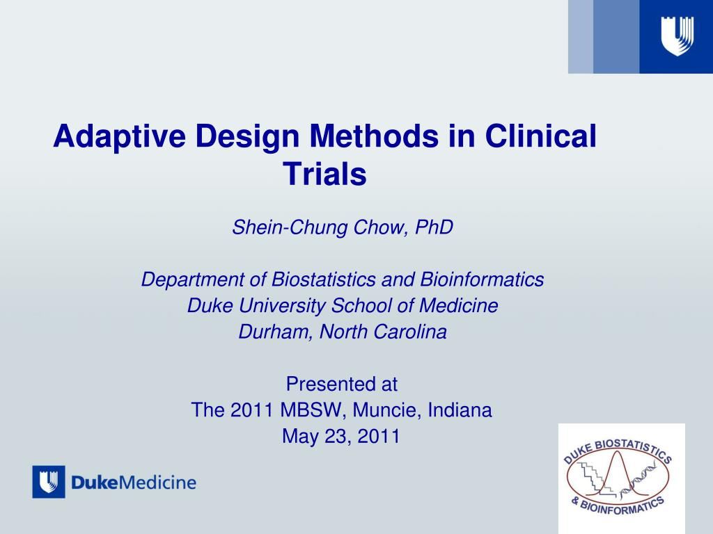 adaptive design methods in clinical trials l.