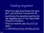 padding argument5