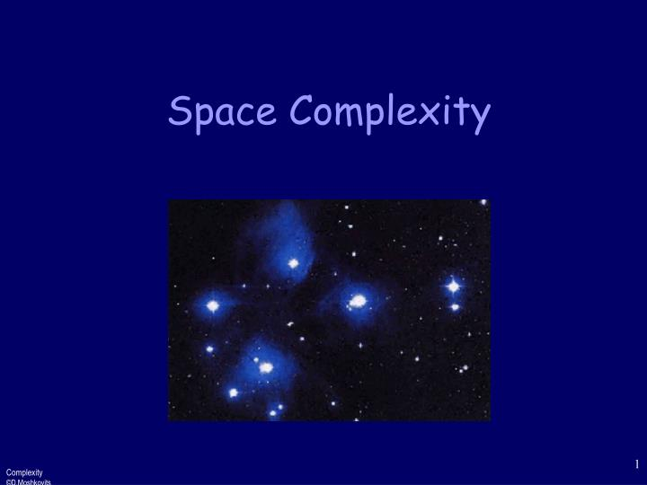 space complexity n.