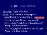 tqbf is in pspace