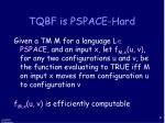 tqbf is pspace hard
