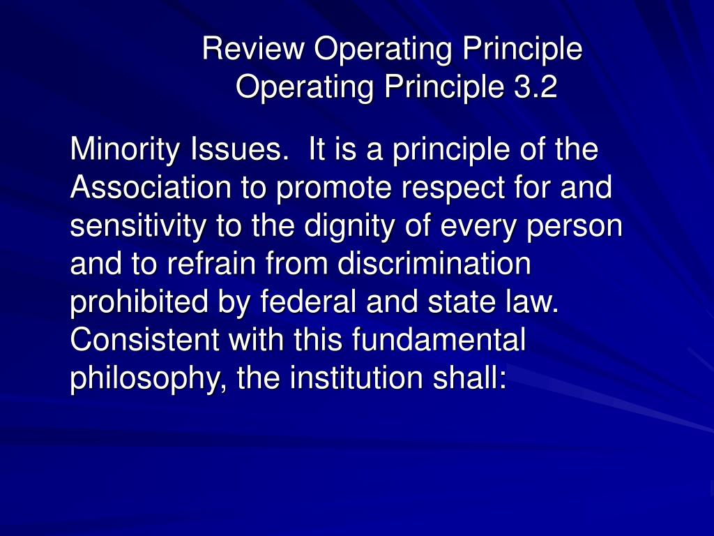 Review Operating Principle
