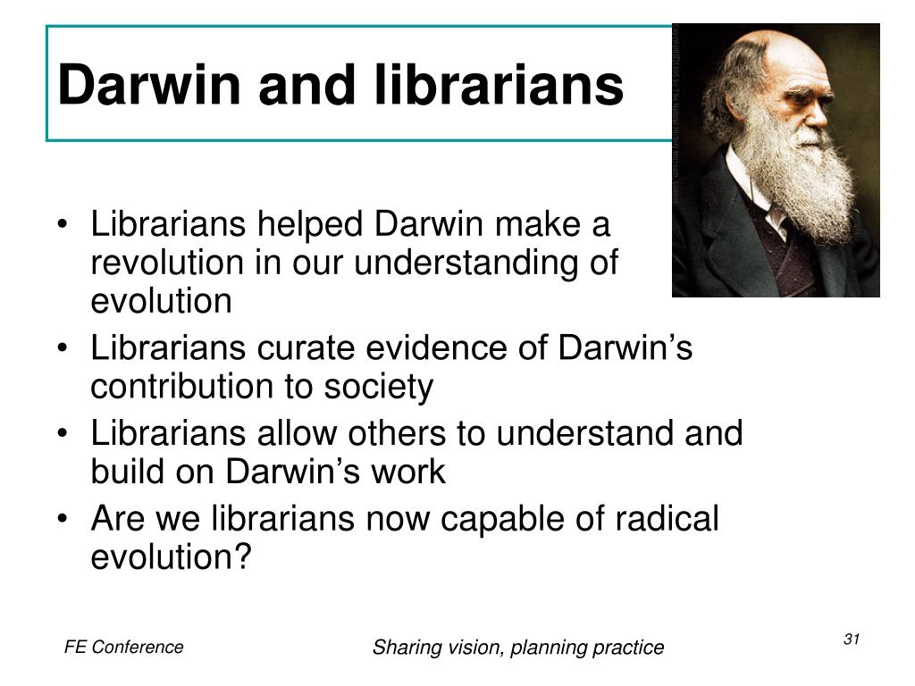 Darwin and librarians