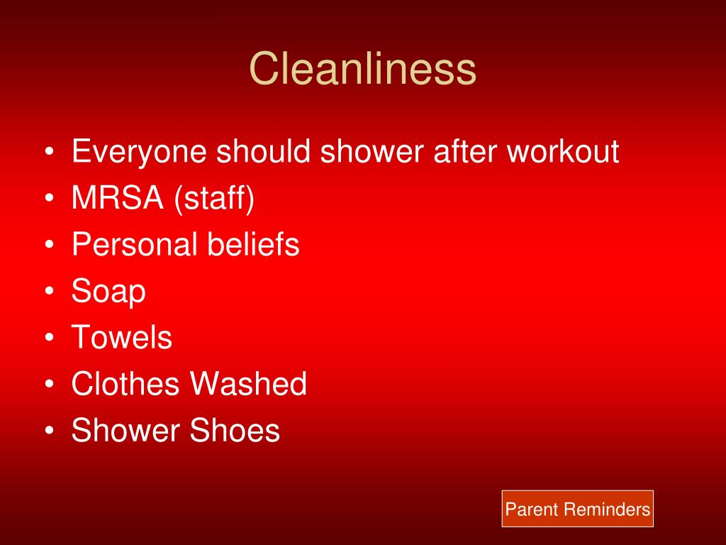 Cleanliness