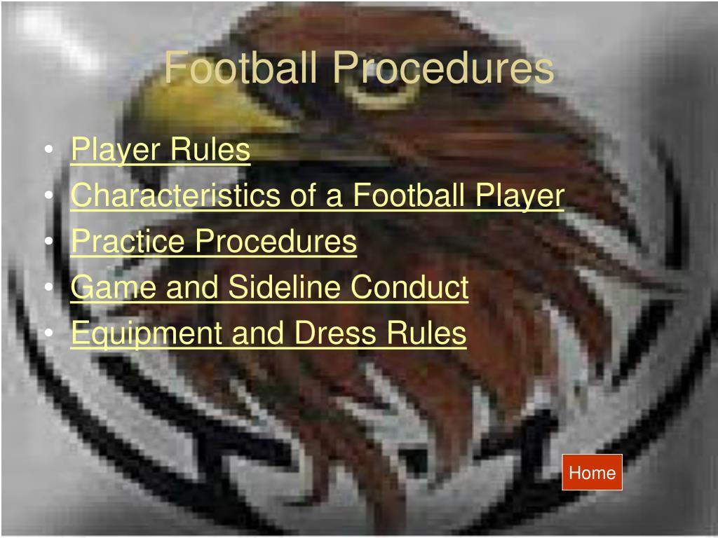 Football Procedures