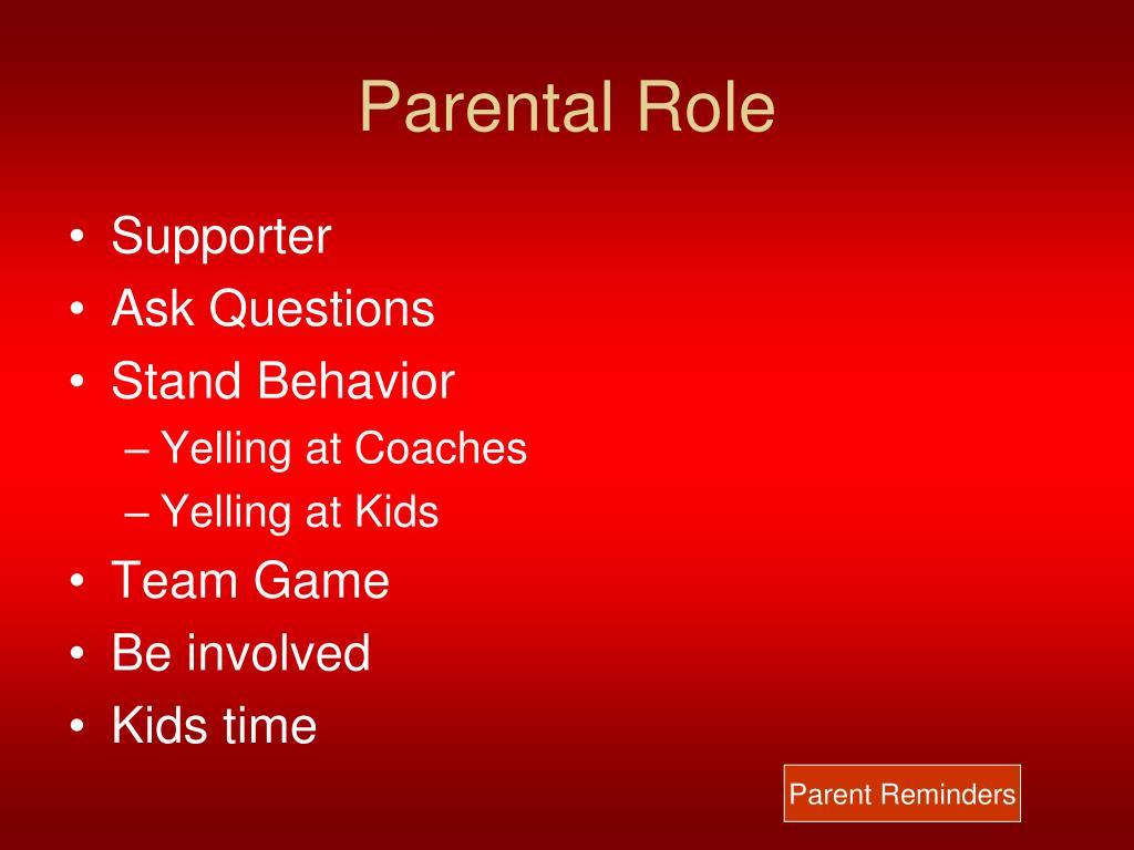 Parental Role