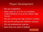 player development