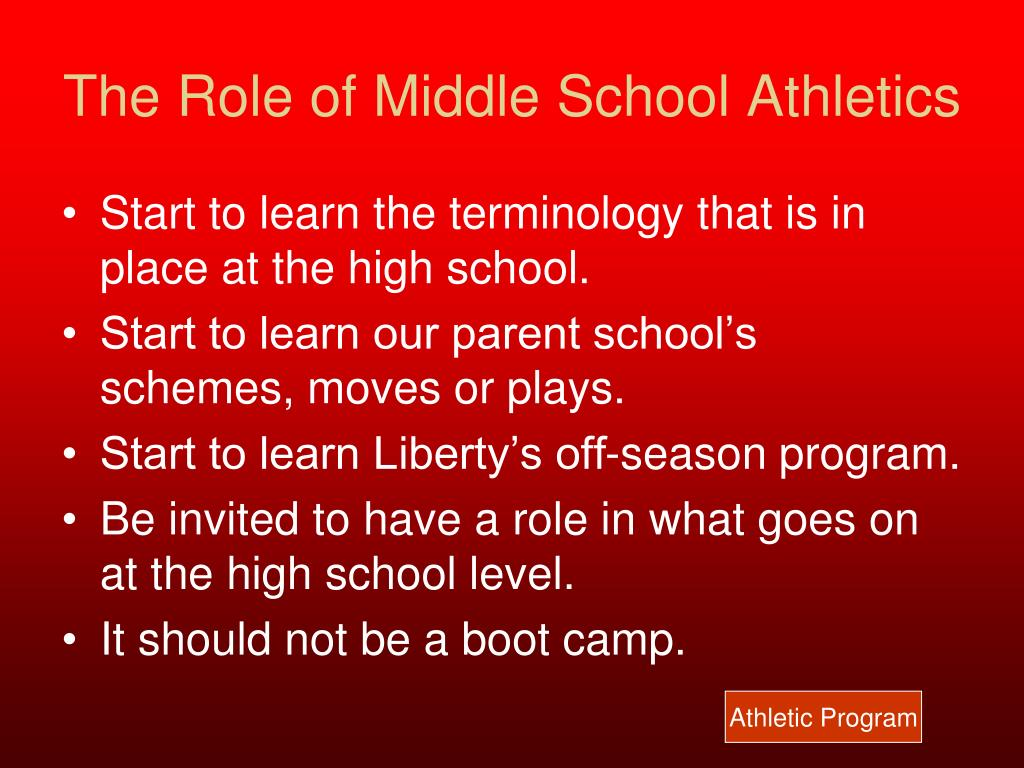 The Role of Middle School Athletics
