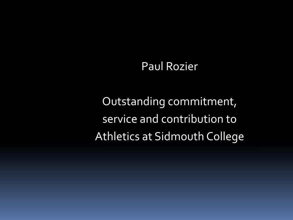 Paul Rozier