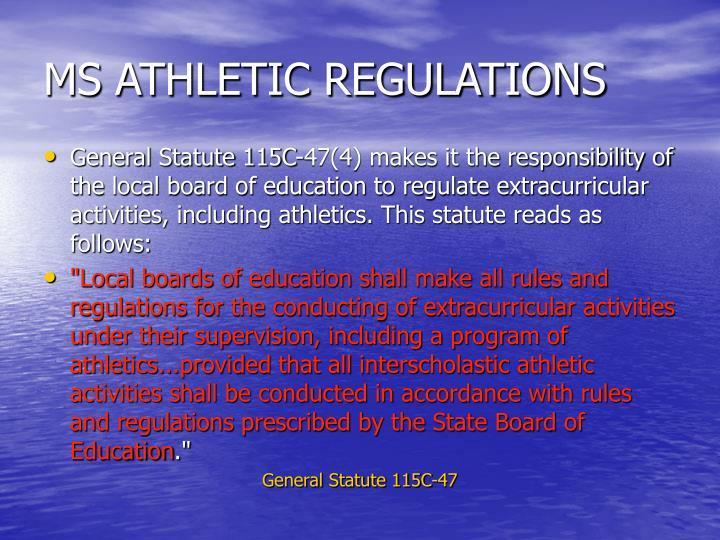 Ms athletic regulations