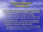 sports medicine concussion