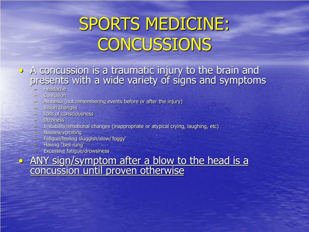SPORTS MEDICINE: