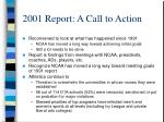 2001 report a call to action