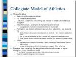 collegiate model of athletics