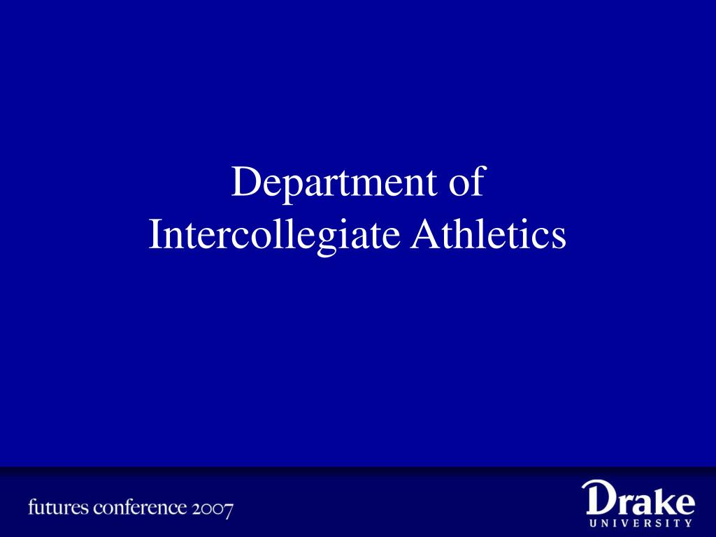 department of intercollegiate athletics l.